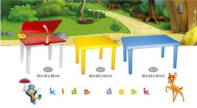 میز پلاستیکی کودک تاشو