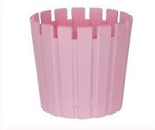 گلدان پلاستیکی تزئینی رنگی