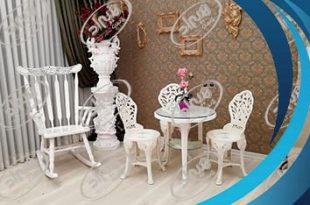 میز صندلی پلاستیکی طاووسی